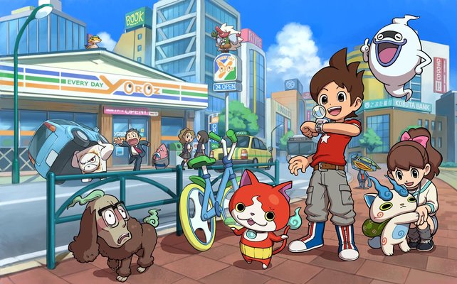 Freundschaften in Yo-Kai Watch: Mensch und Geist erleben gemeinsam Abenteuer.