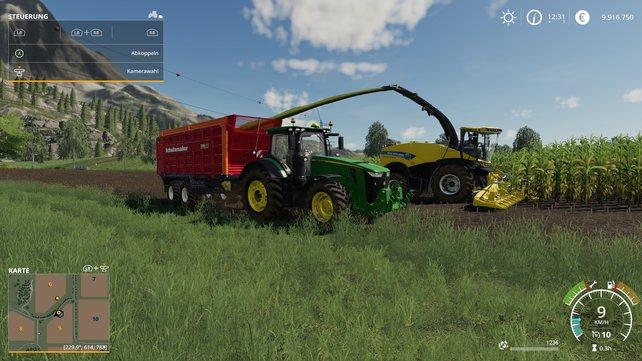 Dicke Traktoren, fette Erntemaschinen: Für die harte Feldarbeit braucht es standesgemäße Vehikel.