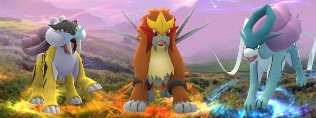 """Bei """"Wander-Pokémon"""" wie Raikou, Entei und Suicune in der 2. Generation wird das Wesen bei der ersten Begegnung bestimmt – später wirkt die Synchro-Fähigkeit nicht."""