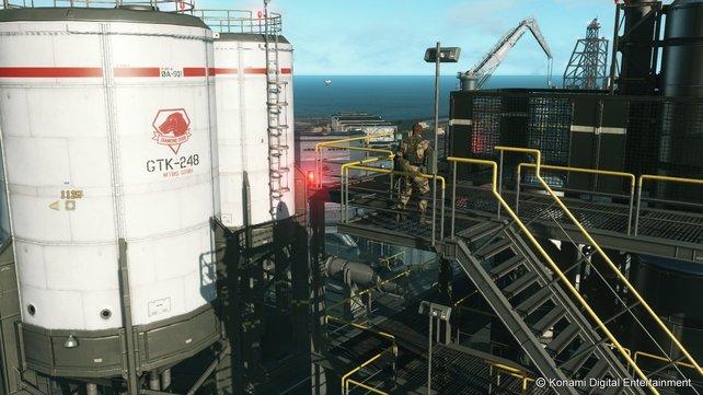 Inmitten des Ozeans errichtet ihr Plattformen für eure Basis zur Forschung und Ausrüstung.