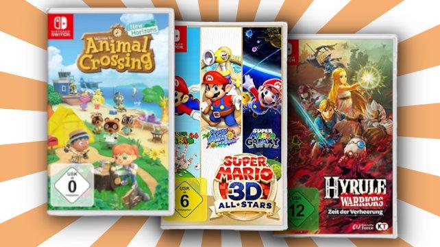 """Holt euch jetzt drei """"Nintendo Switch""""-Spiele zum Preis von zwei!"""