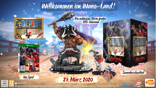 Die Kaido-Edition wartet mit einem Diorama auf.
