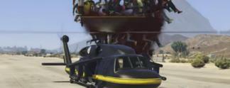 GTA 5: Ein Helikopter gegen 100 Leute im Video