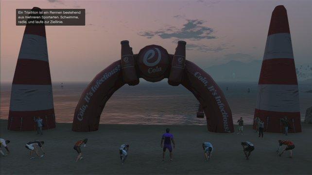 Es gibt drei Triathlons in Los Santos und Umgebung. Gewinnt ihr sie alle, bekommt ihr zwar kein Geld, aber eure Charakterwerte werden es euch danken.