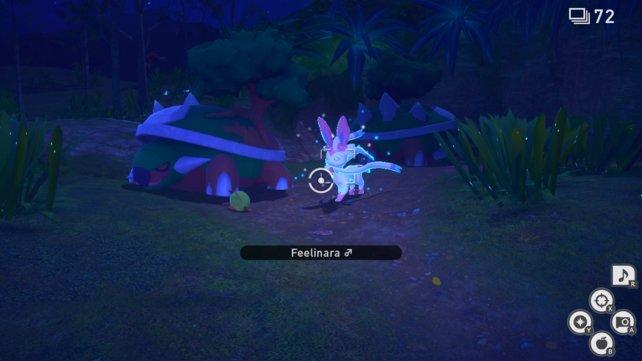 Feelinara im Floreo-Naturpark von New Pokémon Snap.