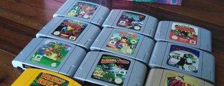 N64-Schatzgrube   Keller wird geflutet - Oma verschenkt erstklassige N64-Games