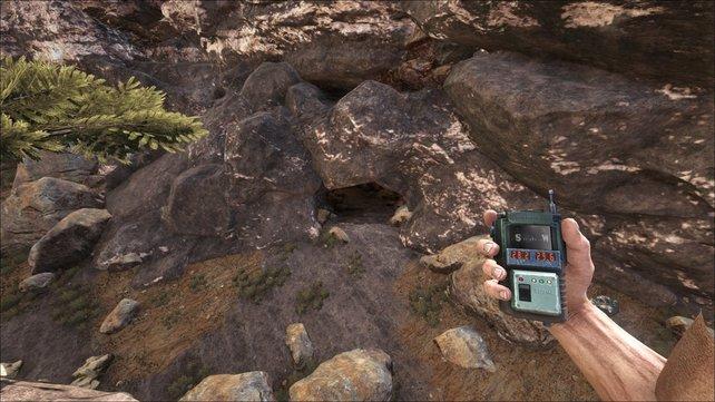 """Zwischen zwei Bergspitzen findet ihr bei ARK die Höhle namens """"Bergspitze""""."""