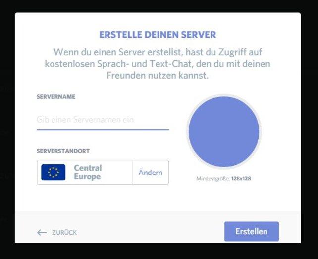 Wenn ihr euch bei Discord registriert und angemeldet habt, dann könnt ihr euch einen oder auch mehrere Server erstellen.