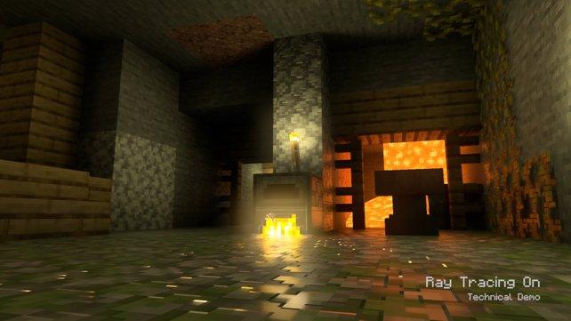 Hübscheres Licht, beeindruckendere Schatten: So sieht Raytracing in Minecraft aus.