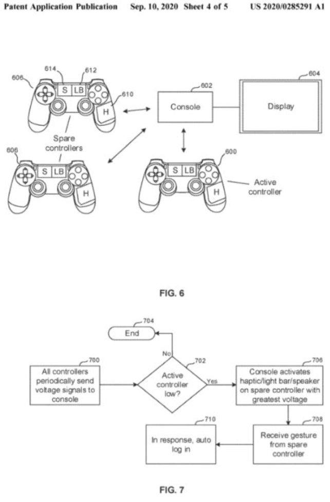 Die Abbildung des Patents zeigt, wie die Abfrage der Akkustände beim PS5-Controller vonstatten geht. (Bildquelle: Respawn.)