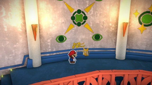 Die Wandzeichnungen liefern euch die Hinweise, die ihr benötigt. Allerdings braucht ihr die Hilfe von Professor Toad, um sie zu entziffern.