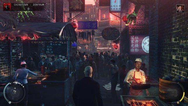 Ganz schön viel los hier. Es gibt Dutzende Wege, den König von Chinatown umzunieten.