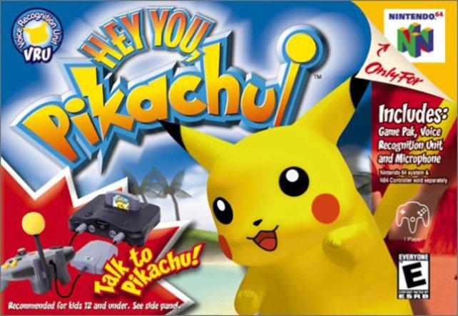 Hey You, Pikachu! wurde extra mit einem Mikrofon angeboten, wodurch ihr mit dem Taschenmonster sprechen konntet.