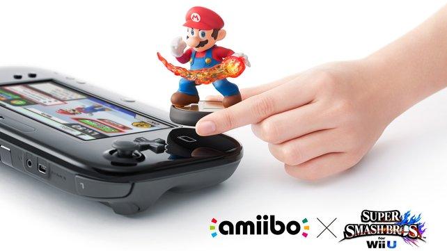 Simpel: Haltet euren Amiibo über das Sensorfeld, um Daten auszutauschen.