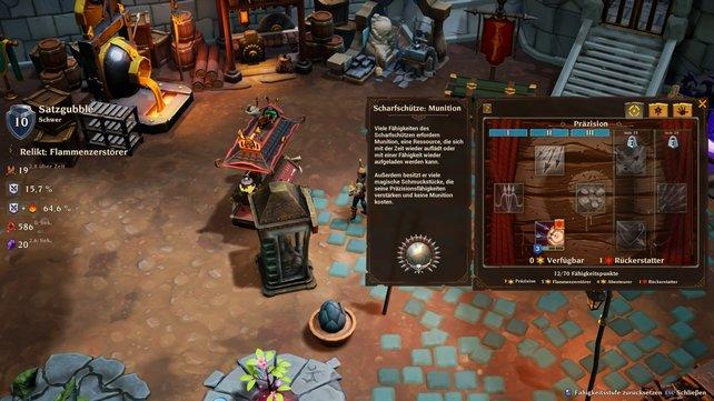 Der Waffenwagen ist für Scharfschützen das benötigte Gebäude, um umzuskillen in Torchlight 3.