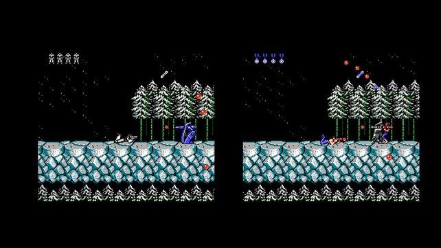 In Probotector verwandeln sich nicht nur Gegner, sondern auch die Helden in Roboter (Bild von schnittberichte.com)
