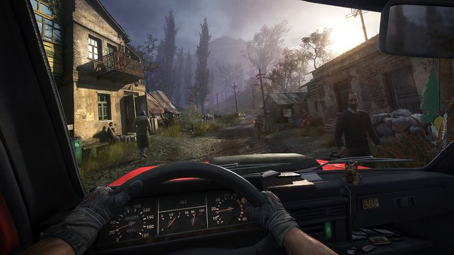 Im Spiel könnt ihr unterschiedliche Fahrzeuge steuern.