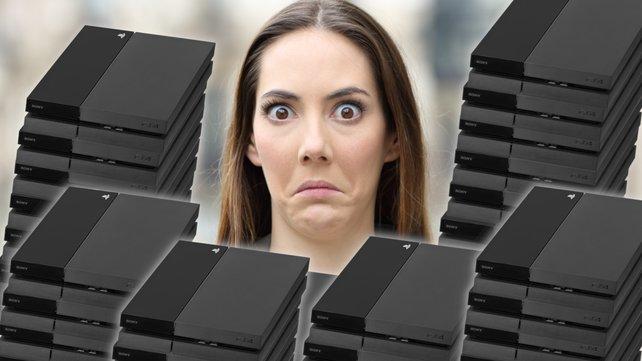 """In einer Lagerhalle werden 3800 PS4-Konsolen entdeckt. Die Besitzer sind jedoch keine Sammler. Bildquelle: Getty Images/ AntonioGuillem"""""""