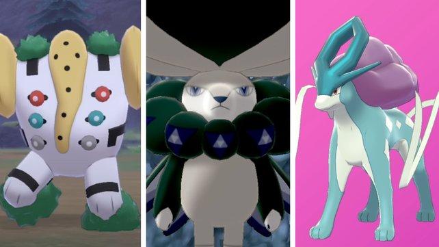 """Diese und viele weitere Legendäre Pokémon könnt ihr in """"Die Schneelande der Krone"""" fangen."""