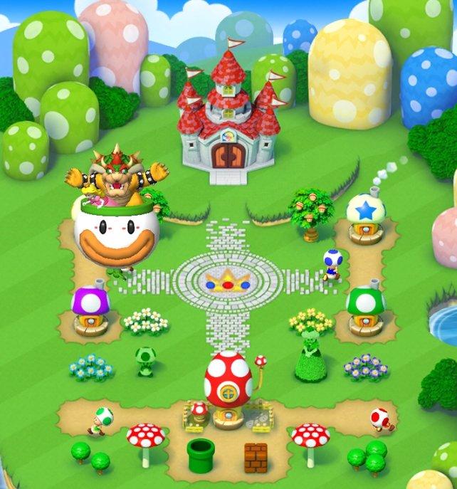 Euer eigenes Königreich: In Super Mario Run baut ihr dieses immer weiter aus.