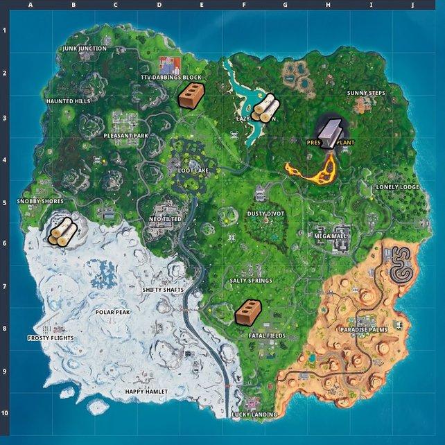 Die Karte bringt euch direkt zu den Ressourcen.