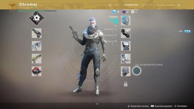 Unter dem Charakternamen findet in den Charakter- und Power-Level.