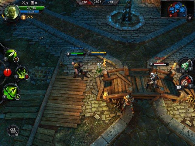 Drei gegen drei: Erobert mit eurem Team die Stützpunkte bis der Gegner kapituliert.