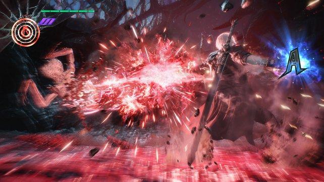"""Dantes """"Royal Guard""""-Stil in Aktion. Das geht meist unschön für seine Gegner aus."""
