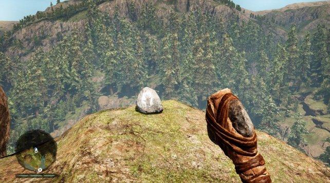 Fundstücke in Far Cry Primal: Daysha-Hände fangen nachts an zu leuchten.