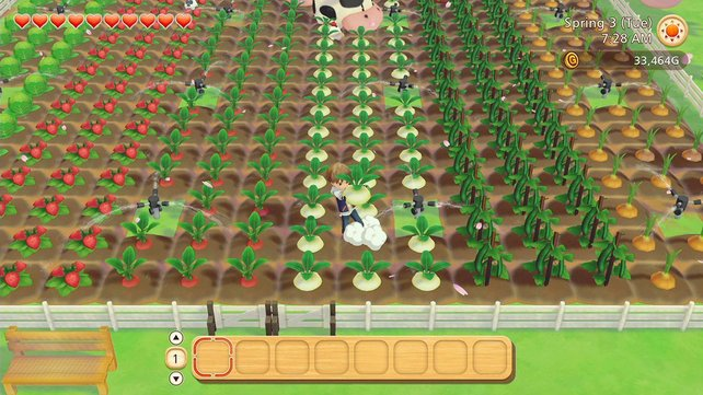 Das Ziel in Story of Seasons: Die heruntergekommene Farm zum Erblühen bringen.