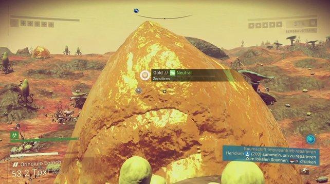 Ein riesiger Berg voll Gold - der ist wohl kaum zu übersehen, oder?