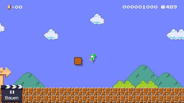 Im Super Mario Bros. 1-Stil könnt ihr als Yoshi spielen, nicht aber auf ihm reiten.