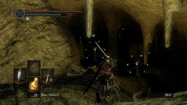Ein paar schwache Feuerräder lauern in der letzten Höhle vor dem Boss. Macht sie platt oder rennt an ihnen vorbei. Klappt beides gut.