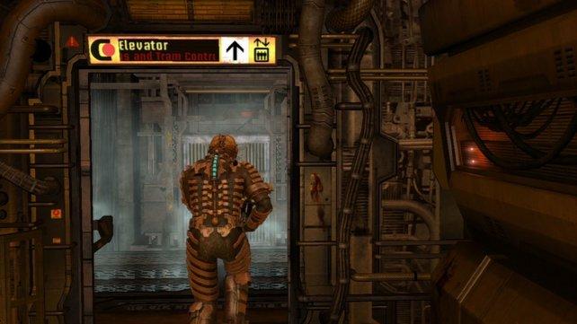 In Dead Space lenken euch Fahrzüge mit Monstern ab, während um euch herum das nächste Level geladen wird
