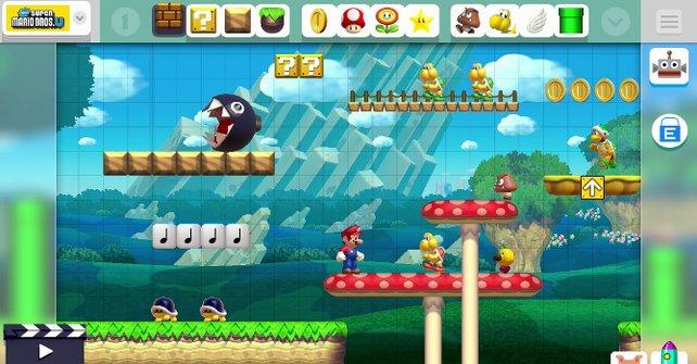 Im Super Mario Maker könnt ihr Level bauen, die sich über jede Nintendo-Regel hinwegsetzen.