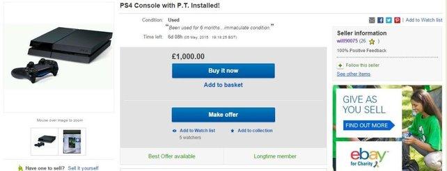 Schnäppchen gefällig? Aktuell werden PS4-Konsolen mit installiertem PT um horrende Preise gehandelt.