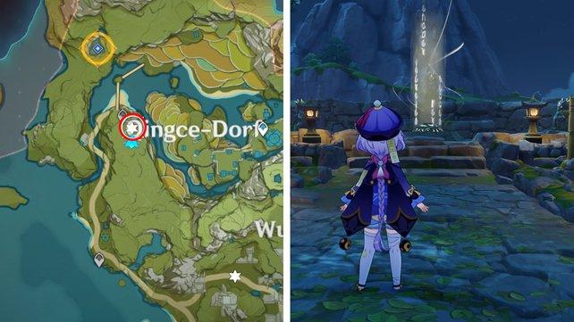 Die Karte zeigt euch den ersten Standort der Geo-Statuen.