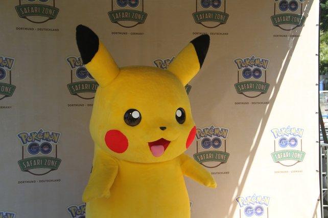 Pikachu höchstpersönlich war auch vor Ort.