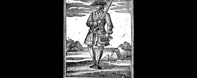 Darstellung von Jack Rackham auf einem Schnitt.