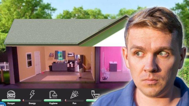 Twitch-Streamer spielt Die Sims 4 im echten Leben. Das Problem: Er ist der Sim. Bildquelle: Getty Images/ Mariia Skovpen