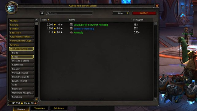 Mit Leder in WoW Shadowlands richtig Gold verdienen.