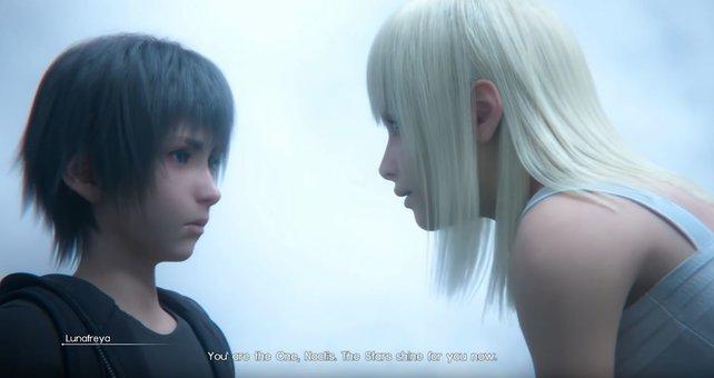 Luna und Noctis begegnen sich als Kinder. Das Ende entpuppt sich als einziger großer Plan.