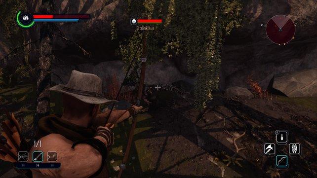 Den Bogen zu Beginn des Spiels dürften einige übersehen haben. Sammelt ihn unbedingt auf, wenn mit einem angemessenen Arsenal an Waffen in Elex starten möchtet.
