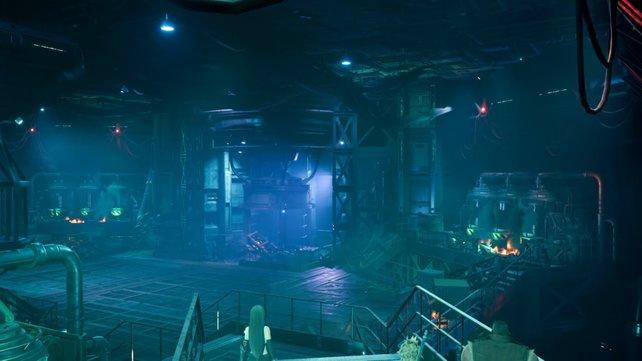 In dem Laborraum, in welchem ihr bereits das Cthulhu-änliche Versuchssubjekt besiegt habt, befindet sich ein Fahrstuhl.