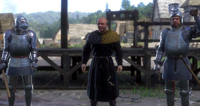 In Säbelrasseln entscheidet ein friedliches Duell, welcher Schmied euch auszahlt: Meister Otto oder Zach mit seinem Sohn Vitus?