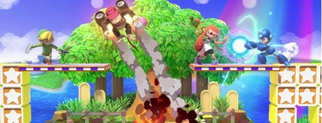 """Nicht nur als bestes Spiel der """"Nintendo Switch""""-Konsole ausgezeichnet, sondern vom Punlikum als bestes Spiel der Messe benannt: Super Smash Bros. - Ultimate"""