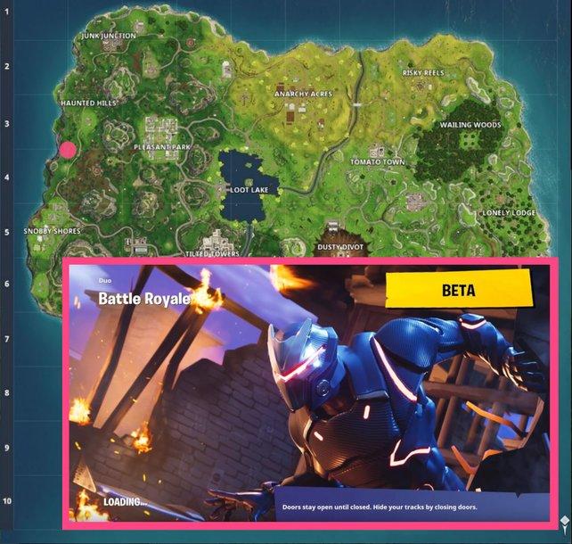 Blockbuster-Ladebildschirm aus Woche 2: Die Koordinaten weisen euch den Weg gen Nordwesten.