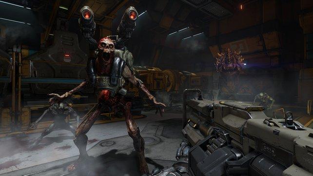 Klassisch, blutig, gut: Doom von 2016 kommt ohne Schnickschnack aus.