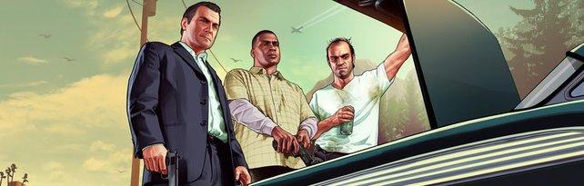 Zeit für ein bisschen Krach-Bumm-Peng: Auch Michael, Franklin und Trevor lieben Cheats.