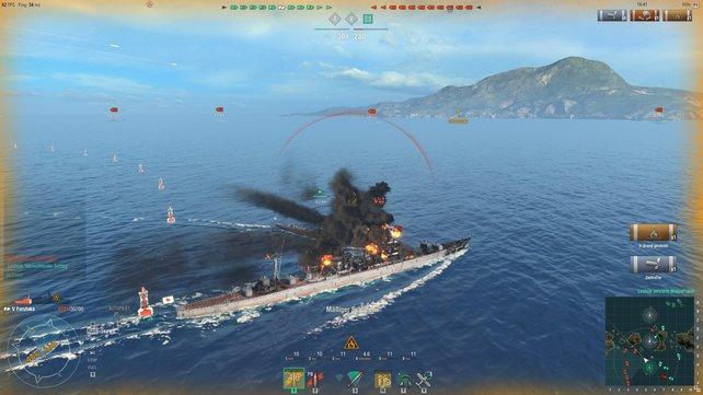 In den Gefechten von World of Warships ist der Seeteufel los!